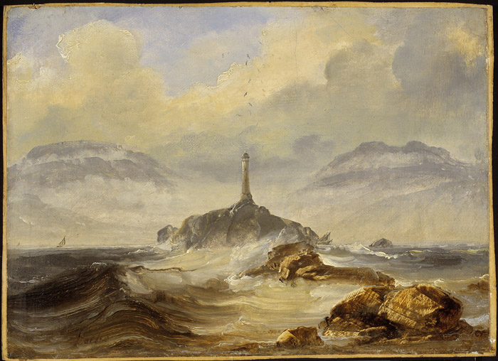 Peder Balke, Lighthouse on the Coast, probably 1860s. The National Museum of Art, Architecture and Design, Oslo, photo Jacques Lathion