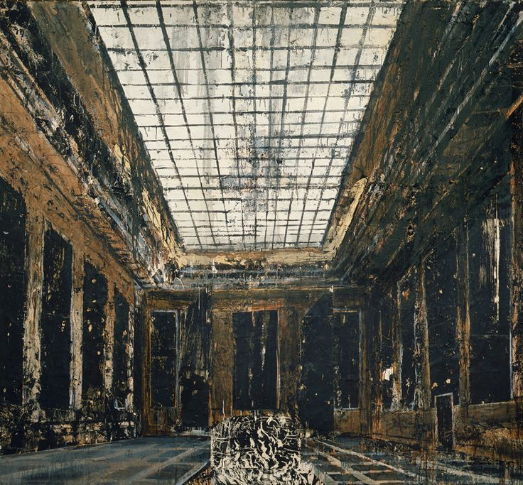 Anselm Kiefer, Interior, 1981. Oil, acrylic and paper on canvas. 287.5 x 311 cm. Collection Stedelijk Museum, Amsterdam. Photo Collection Stedelijk Museum, Amsterdam / © Anselm Kiefer