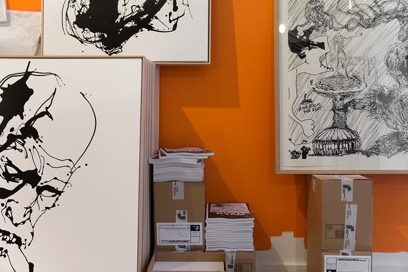 Thomas Kvam, detalj fra studio mens han arbeidet med utstillingen A Natural Born Pollock