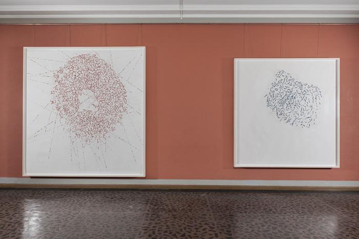 Roni Horn, installasjonsbilde fra Tegninger, Vigelandsmuseet. Courtesy of Peder Lund, copyright Roni Horn