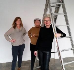Kunstnergruppen InEpic. Fra venstre: Nina Grieg, Bo Magnus og Gitte Sætre.