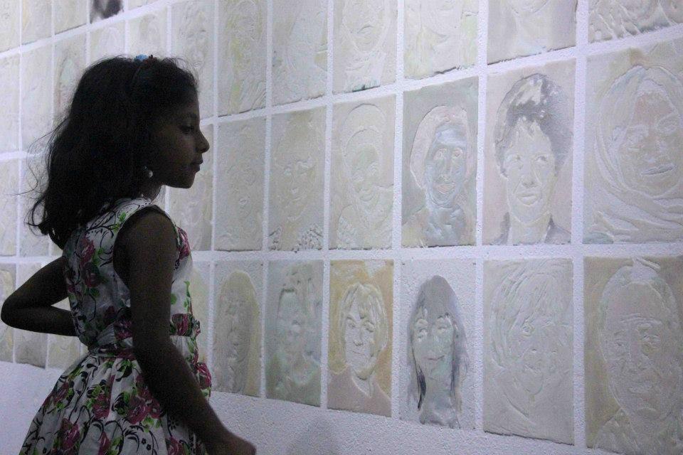 Bo Magnus, TLF (The Legacy of Feminism), on view at the Kochi-Muziris Biennale 2015.