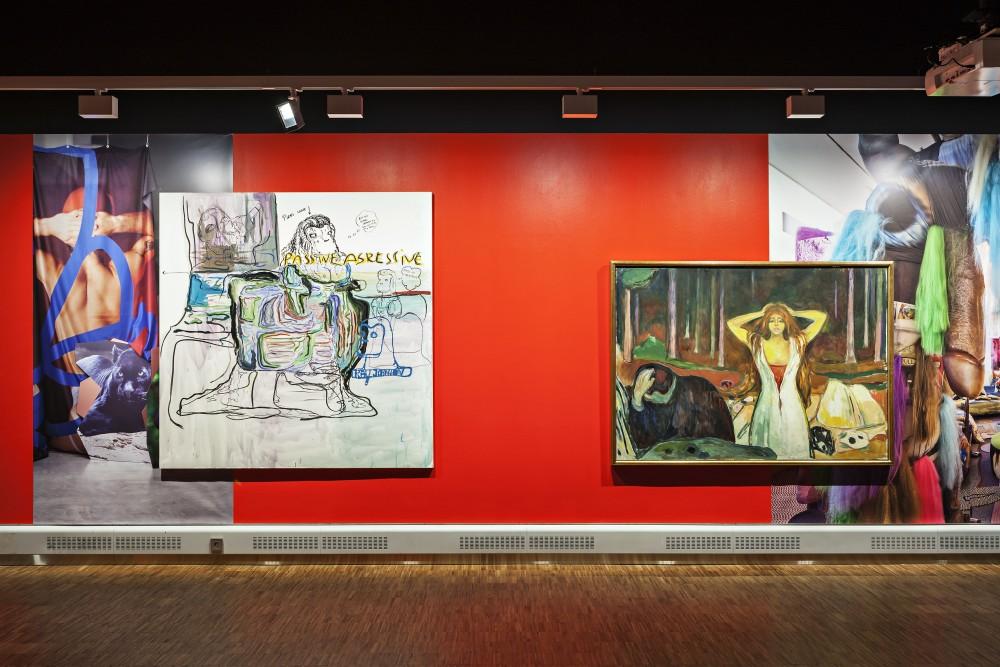 Melgaard + Munch, installasjonsbilde, 2015. Courtesy: Munch Museet