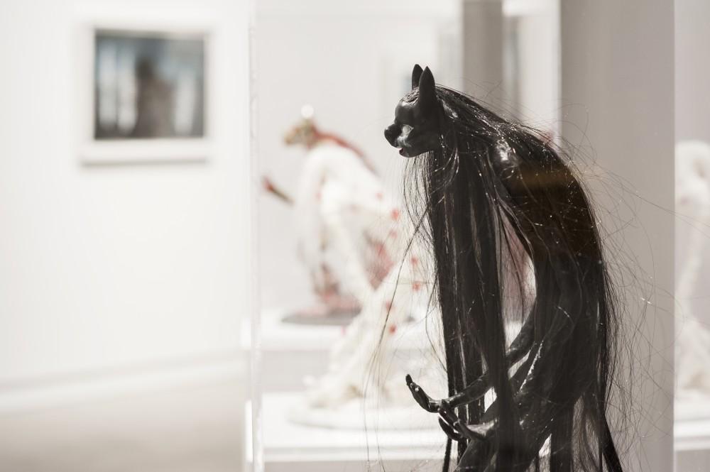 Ingrid Torvund, installasjonbilde fra When I Go Out I Bleed Magic (Untiteled) Foto: Stina Glømmi