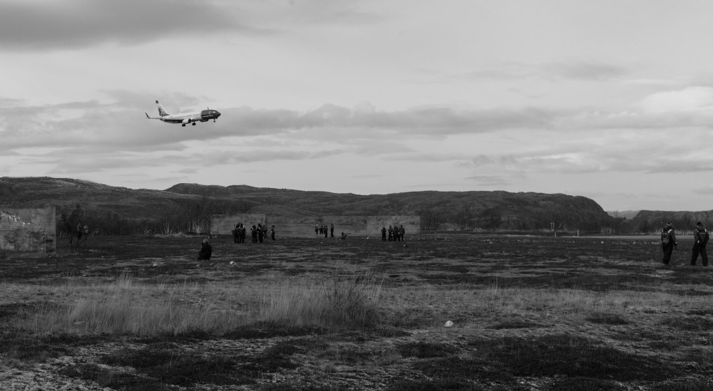 Fra presentasjonen av Raviv Ganchrows, Long Ware Synthesis ved Høybuktmoen Lufthavn. Foto: Foam.
